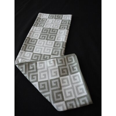 Greek Key Throw Blanket Color: Burnt Olive
