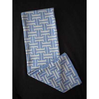 H-Basket Throw Blanket Color: Blue/Sleet