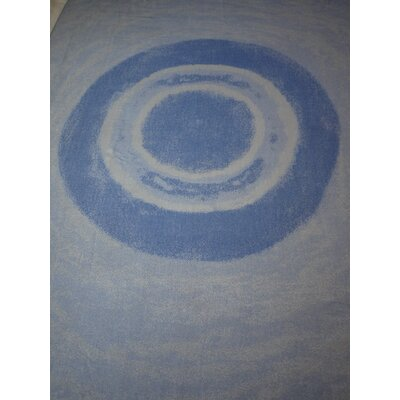 Watercolor Circles Throw Blanket Color: Sleet/Blue
