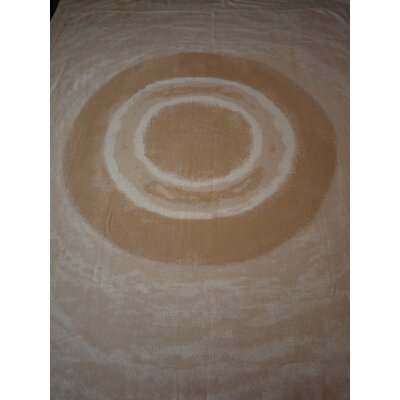 Watercolor Circles Throw Blanket Color: Gardenia/Gold
