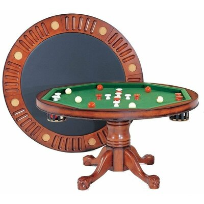 Round Bumper Pool 4.5' Game Table Bern54-RND-AW