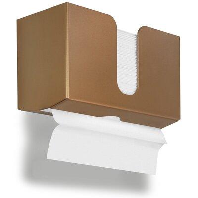 Paper Dual Towel Holder Color: Gold Metallic