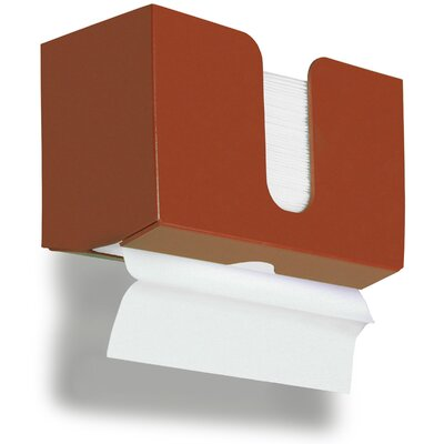Paper Dual Towel Holder Color: Georgia Clay Red Brown