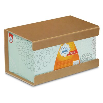 Kleenex Large Box Holder Color: Gold Metallic