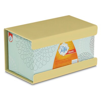 Kleenex Large Box Holder Color: Meringue Yellow