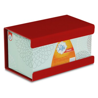 Kleenex Large Box Holder Color: Cherry Red