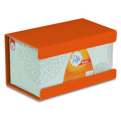 Kleenex Large Box Holder Color: Pumpkin Orange