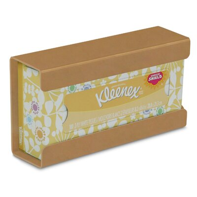 Kleenex Small Box Holder Color: Gold Metallic