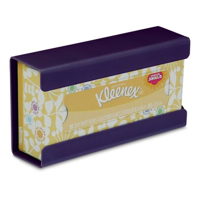 Kleenex Small Box Holder Color: Purple