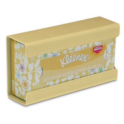 Kleenex Small Box Holder Color: Meringue Yellow