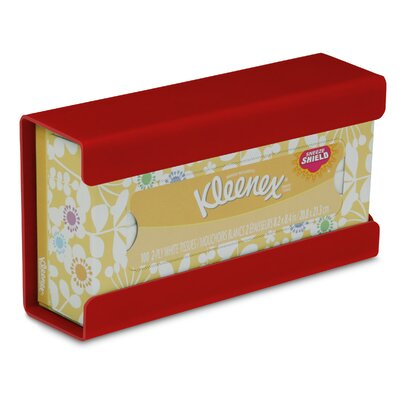 Kleenex Small Box Holder Color: Cherry Red