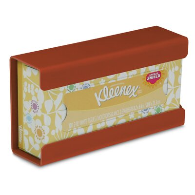 Kleenex Small Box Holder Color: Georgia Clay Red Brown