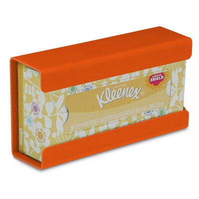 Kleenex Small Box Holder Color: Pumpkin Orange