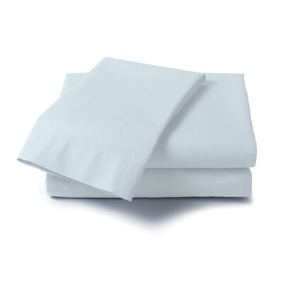 Hard to Fit 400 Thread Count Sheet Set Color: Blue, Size: Extra-Long Full
