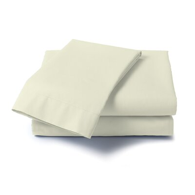 Hard to Fit 400 Thread Count Sheet Set Color: Ivory, Size: Queen
