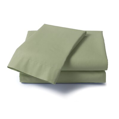 Hard to Fit 400 Thread Count Roll-a-Way Sheet Set Color: Sage