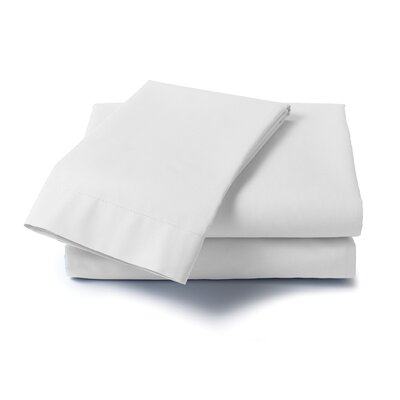 Hard to Fit Bed 400 Thread Count Sheet Set Size: Full, Color: White
