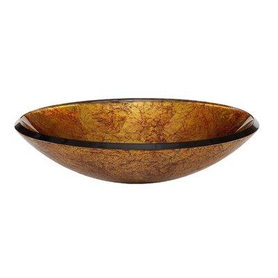 Reflex Circular Vessel Bathroom Sink Sink Finish: Metallic Gold