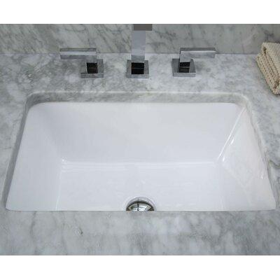 Hollifield Ceramic Rectangular Undermount Bathroom Sink with Overflow