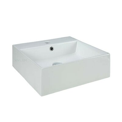 Vitreous China Square Vessel Bathroom Sink