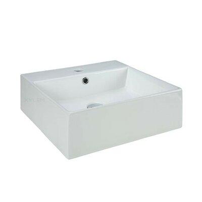 Vitreous China Square Vessel Bathroom Sink