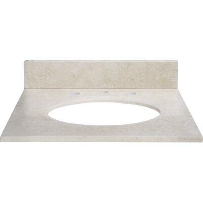 25 Marble Vanity Top for Undermount Sink with Backsplash Top Finish: Galala Beige