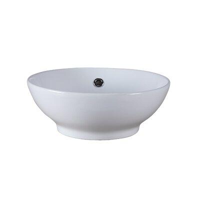 Vitreous China Circular Vessel Bathroom Sink