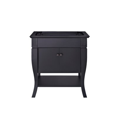 Colorado 30 Bathroom Vanity Base Finish: Black