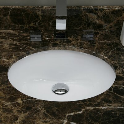 Hollifield Ceramic Oval Undermount Bathroom Sink with Overflow Sink Finish: White