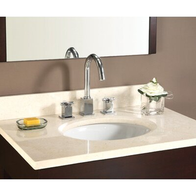 Hollifield 25 Marble Vanity Top for Undermount Sink with Backsplash Top Finish: Galala Beige