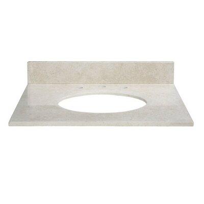 31 Marble Vanity Top for Undermount Sink with Backsplash Top Finish: Galala Beige