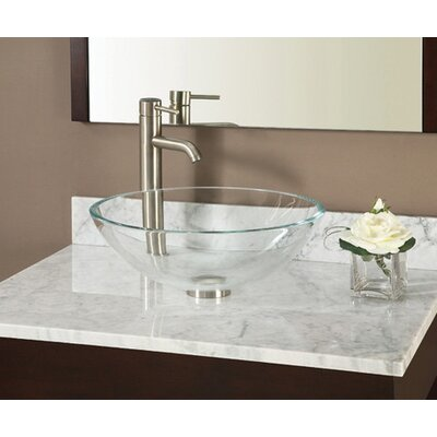 49 Marble Vanity Top for Vessel Sink with Backsplash Top Finish: Carrera White