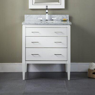 Manhattan 30  Bathroom Vanity Base Base Finish: White