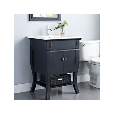 Colorado 24 Bathroom Vanity Base Finish: Black