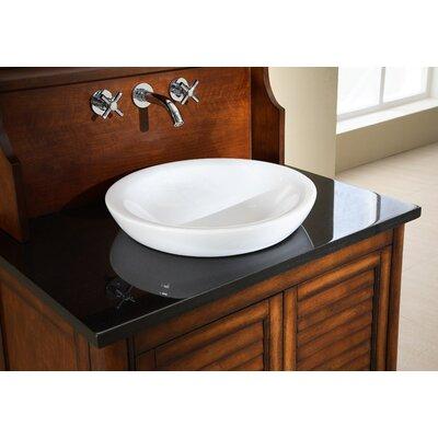 Hollifield Ceramic Circular Vessel Bathroom Sink