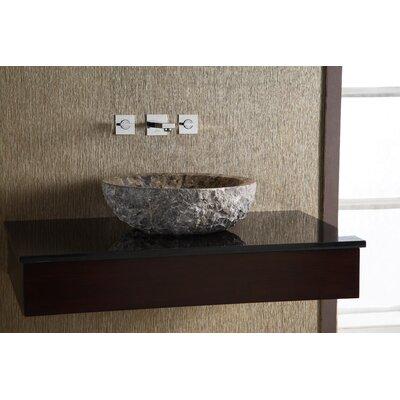 Marble Stone Circular Vessel Bathroom Sink