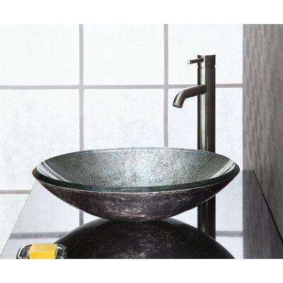 Reflex Glass Circular Vessel Bathroom Sink Sink Finish: Metallic Silver