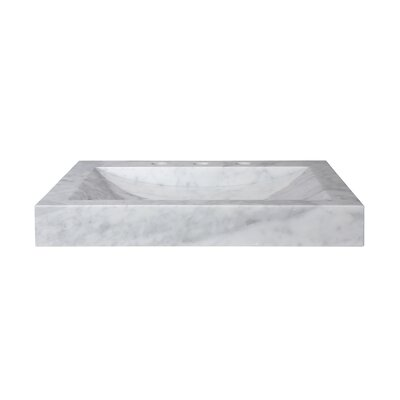 24 Marble Vanity Top with Integrated Bowl Top Finish: Carrera White