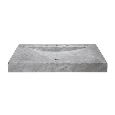 30 Marble Vanity Top with Integrated Bowl Top Finish: Carrera White
