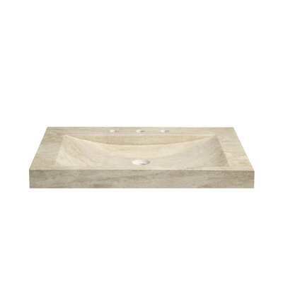 Marble 36 Vanity Top with Integrated Bowl Top Finish: Beige Travertine