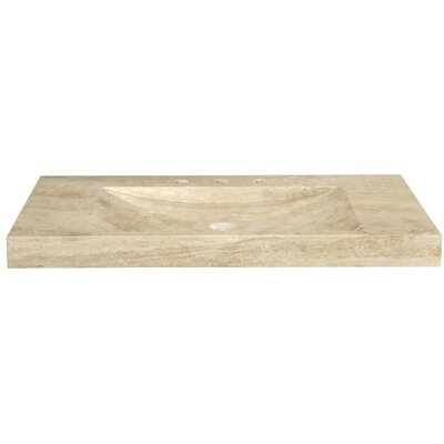 Marble 48 Vanity Top with Integrated Bowl Top Finish: Beige Travertine