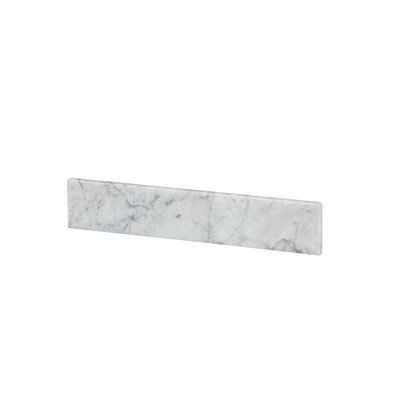 Vanity Top Side Splash Finish: White Carrara Marble
