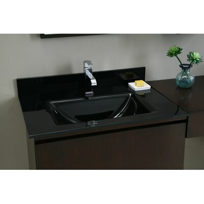 Hollifield 31 Single Bathroom Vanity Top Top Finish: Black