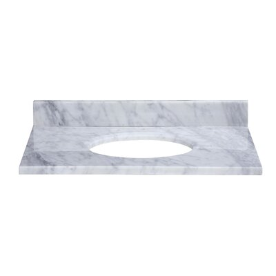 Hollifield 25 Marble Vanity Top for Undermount Sink with Backsplash Top Finish: Carrera White