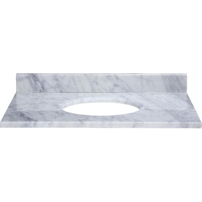 Hollifield 31 Marble Vanity Top for Undermount Sink with Backsplash Top Finish: Carrera White