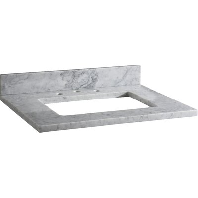 Hollifield 31 Single Bathroom Vanity Top Finish: Carrera White