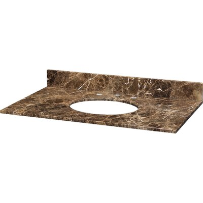 37 Marble Vanity Top for Undermount Sink with Backsplash Top Finish: Dark Emperador