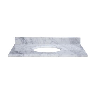 37 Marble Vanity Top for Undermount Sink with Backsplash Top Finish: Carrera White