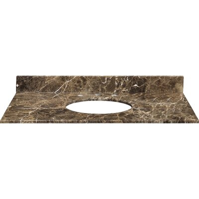 Stone Top Specialty Undermount Bathroom Sink Width: 49, Finish: Brown and Black