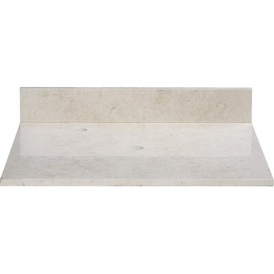 25 Marble Vanity Top for Vessel Sink with Backsplash Top Finish: Galala Beige